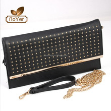 2015 Bags woman michael classic black shoulder bag Day clutches with Rivets