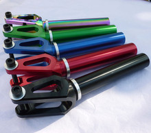 CNC machined anodized Aluminum stunt scooter fork