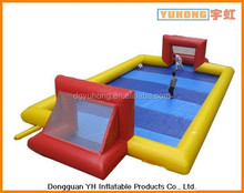 mini inflatable football field sports game arena, soap football pitch
