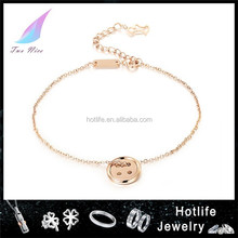 bisuteria fashion jewelry button simple design belly dance anklet