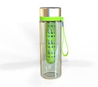 Popular fruit infuser water bottle/bulk plastic cup/plastic infusion mug