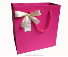 Pink Paper Shopping Bag for clothing and shoes