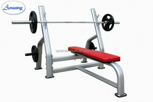 Guangzhou gym equipment AMA-8830 high quality silver oval tube weight lifting bench
