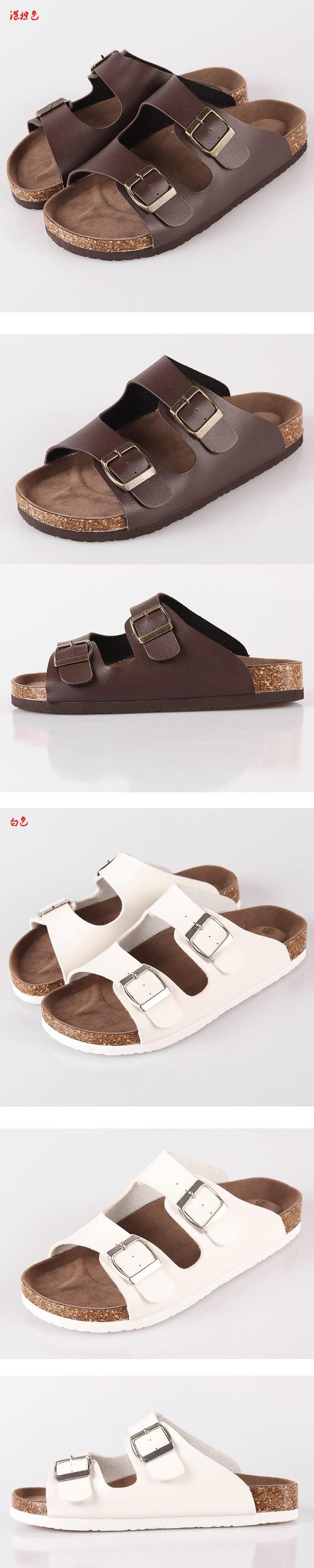 Новые кроссовки обувь женская женщин квартиры birkenstock стиль Корк сандалии большой метрах пляж обувь летом человек Тапочки 04msh007