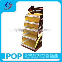 CYJ-9525 Cardboard floor standing chocolate /tea display