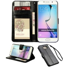 For Samsung Compatible Brand and Pu leather Material for samsung galaxy s6 case with stand