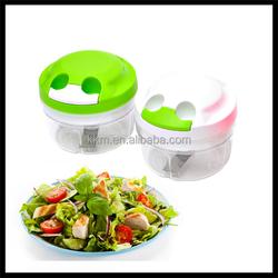 Multi-function Food Grade Plastic Salad Chopper, manual vegetable garlic onion chopper, Hachoir / Herb slasher cutter