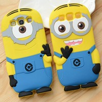 For Samsung Galaxy Core i8260 Despicable Me Minion Silicone Soft Case