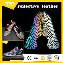 Glow In The Dark Reflective PVC Leather For Shoes