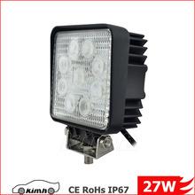 4.3inch 2160LM automobile led worklight 12v 27w 4wd led work light