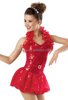 MB2015193 New design adult red sequin cheap jazz Latin dance children dance costume