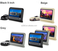9 Inch Car Headrest DVD With FM IR 32 Bits Game Function
