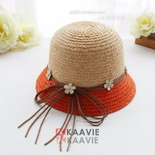2015 new childs beach bowler hat foldable brim straw hats
