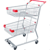 Hot Sale Supermarket Factory Custom Double Metal Basket Shopping Grocery CartRH-SD04