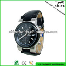 Visible movement mechanical car logo watches for men