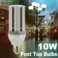 UL CE Mini Led Lamp Post Lights10W,5Years Warranty,Energy Star Standard,Enclosed Fitting Usable 360Degrees