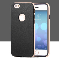 TPU leather back cover cell phone case PC bumper for iphone 6 PLUS 6S PLUS 5.5inch