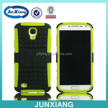China Supplier Rugged Silicon PC Hybrid Mobile Case For Samsung Galaxy S4 with Kickstand