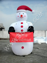 Christmas inflatables/ giant inflatable snowman cartoon, snowman inflatable hot sale C1028