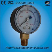 60 bar/400Kpa pressure gauges plastic case 50mm bottom brass connector