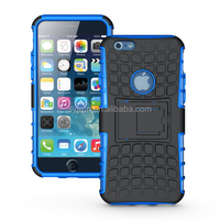 Popular 2 in 1 combo cell phone case TPU+PC dual cell phone cover with stand for iphone6&iphone 6 plus