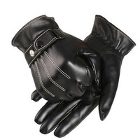 2015 Hot Sell Fashion Winter Leather Driving Motorcycle Biker Full Finger Warm Gloves