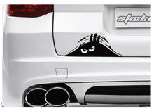 Black 19*7cm Funny Peeking Monster Auto Car Walls Windows Sticker Graphic Vinyl Car Decals Car Stickers
