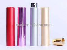 Rotating aluminum empty perfume bottle 8ml travel perfume bottle