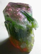 World Super Top Quality Bi Color Tourmaline Crystal Paprok Mine,Afghanistan