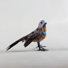 Plastic toy new products feather artificial stuffed birds
