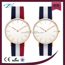nylon/ leather/ PU band quartz watch stores