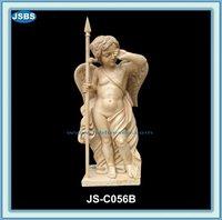 yellow natural stone garden angel soldier statue