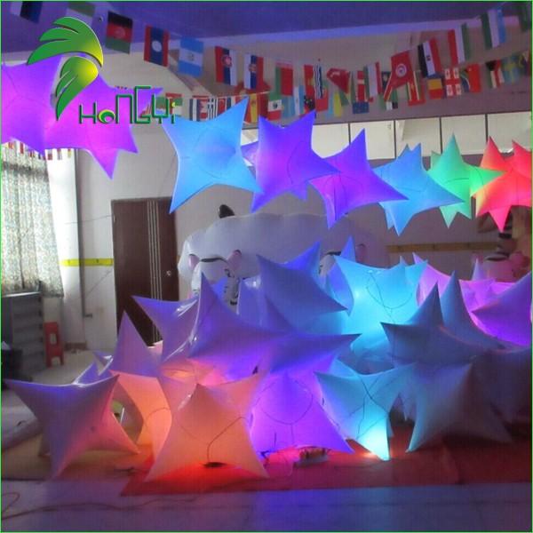 Color Changing Inflatable led Christmas Star Lights 1