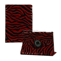 Popular Zebra Rotation Leather Case For ipad 2.3.4