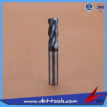 45HRC High precision Round nose Solid Carbide Milling Cutter High quality-----------10*100