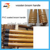pvc cover wooden handle for broom ,wooden broom stick,brush handle