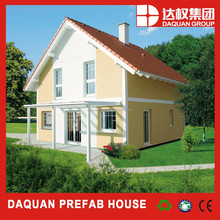 Fast building Low cost, high quality prefab house - Daquan lightweight EPS cement sandwich wall panel building system.