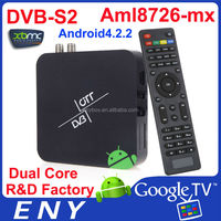 2014 DVB-S2 XBMC Amlogic Dual Core 1080p android 4.2.2 google TV Box satellite receiver super max