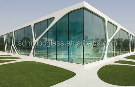 Toughened Glass Curtain WallExterior Glass Wall Panels In