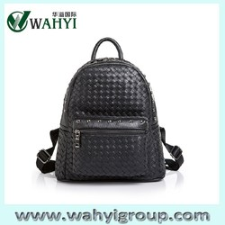 2015 Hot New Products Ladies Leather Backpack,Black Leather Rivet Backpack BAG,Fashion Designer Women Backpack