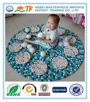 100% wool felt ball carpet