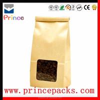 customized plastic aluminum foil kraft paper coffee bag with design/Fashion design kraft paper coffee bag