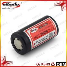 Sibeile high capacity 18350 800mAh battery PK aaa 800mah 1.2v ni-mh rechargeable battery
