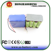 Rechargeable 14.8v 18650 li ion battery pack 4s2p 5200mah 14.8 volt lithium ion battery pack
