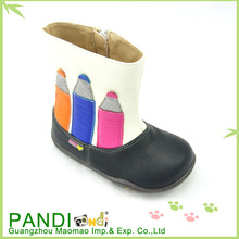 pandi 2014 nuevo estilo de moda los niños niña la mitad botas botas de nieve
