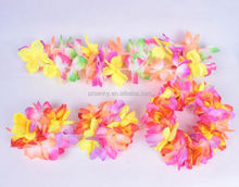 handmade artificial hawaiian flower necklace
