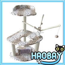 pets supplies outdoor cat house cat tree with ball toy