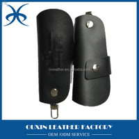 Hot Sale Customized metal leather key ring clip fob