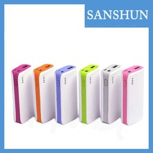 2015 new products 4000 - 5200mAh Full-capacity universal promotional gift portable power bank for smartphones