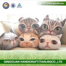 BSCI QQ Petfacepillow Factory cat & dog face wholesale decorative pillows